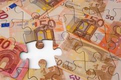 Eurogeld-Laubsäge Lizenzfreie Stockbilder
