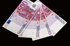 Eurogeldbanknoten stockbilder
