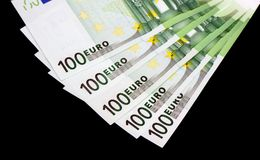 Eurogeldbanknoten Stockfotos