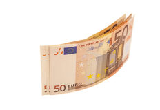 Eurogeldbanknoten Euro 50 Stockfoto