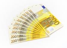 Eurogeldreichweite. Stockbild