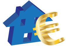 Eurohaus Lizenzfreie Stockfotografie