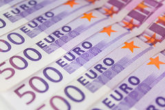 500 Eurohaushaltpläne, europäisches Währungsbargeld Stockbild