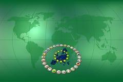 Eurohintergrund Lizenzfreie Stockbilder