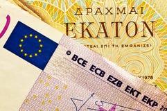 Eurokrise auf Griechen stockfotografie