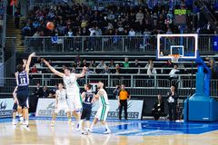 Euroleague Basketball, Efes Pilsen - M. Siena Royalty Free Stock Photos