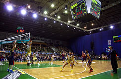 Euroleague basketball game Budivelnik Kyiv vs FC Barcelona Royalty Free Stock Photography