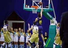Euroleague basketball game Budivelnik Kyiv vs FC Barcelona Stock Photo