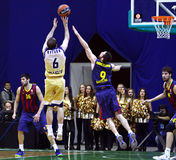 Euroleague basketball game Budivelnik Kyiv vs FC Barcelona Stock Images