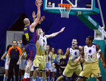 Euroleague basketball game Budivelnik Kyiv vs FC Barcelona Stock Photo