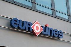 Eurolines公司的商标 免版税库存照片
