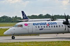 Eurolot plane Stock Photography