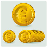 Euromünze Stockfoto