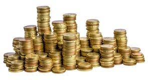 Euromünze auf Weiß Stockfotografie