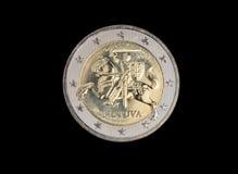 Euromünze des Litauers 2 Lizenzfreies Stockbild