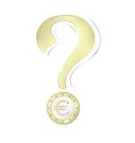 Euromünze - Geld Stockfoto