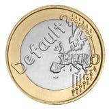 Euromünze mit Wort Stockfotografie