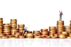 Euromünze und Leute Lizenzfreies Stockfoto