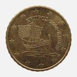 Euromünze von Zypern Stockbild