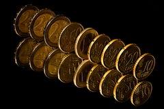 Euromünzen. Lizenzfreie Stockfotos