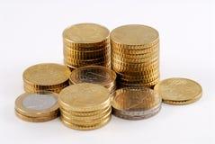Euromünzen Lizenzfreies Stockfoto