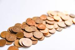 Euromünzen der unterschiedlichen Bezeichnung freigegeben durch Lettland stockfoto