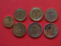 Euromünzen, Europäische Gemeinschaft Lizenzfreie Stockfotos