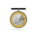 Euromünzengeschäfts-Kunstillustration Lizenzfreies Stockbild
