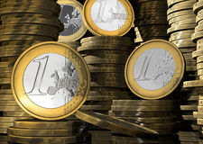 Euromünzenkonzept Stockbild