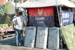 Euromaidan, за 3 дня до столкновений с правительством Стоковое Изображение RF