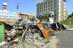 Euromaidan, за 3 дня до столкновений с правительством Стоковые Фото