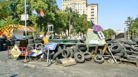 Euromaidan, за 3 дня до столкновений с правительством Стоковые Изображения RF