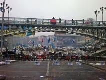 Euromaidan in de Oekraïne Stock Foto's
