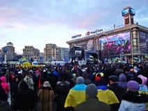 Euromaidan in de Oekraïne Stock Fotografie