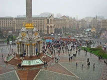 Euromaidan em Ucrânia imagem de stock royalty free