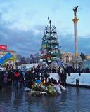 Euromaidan i Ukraina Royaltyfria Foton