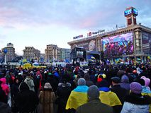 Euromaidan i Ukraina Arkivbild