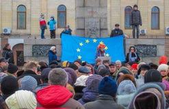 Euromaidan Kirovohrad royalty-vrije stock afbeeldingen