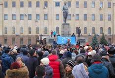 Euromaidan Kirovohrad Arkivfoton
