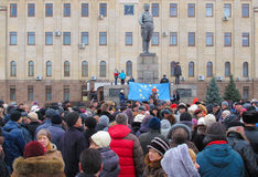 Euromaidan Kirovohrad stock foto's