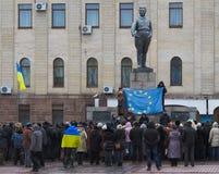 Euromaidan Kirovohrad Fotografering för Bildbyråer
