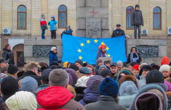 Euromaidan Kirovohrad Royalty Free Stock Images