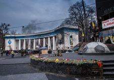 Euromaidan, Kyiv après protestation Image stock