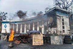Euromaidan, Kyiv después de la protesta Imagen de archivo