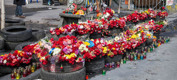 Euromaidan, Kyiv después de la protesta Imagenes de archivo