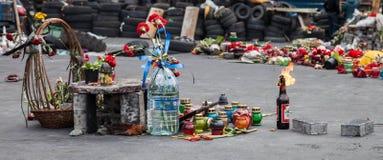 Euromaidan, Kyiv después de la protesta Imagen de archivo libre de regalías