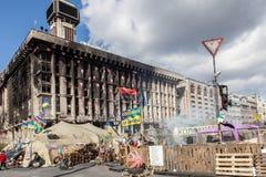 Euromaidan, Kyiv después de la protesta Fotografía de archivo libre de regalías