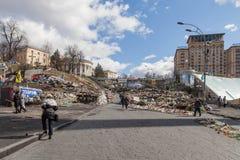 Euromaidan, Kyiv después de la protesta Fotos de archivo libres de regalías