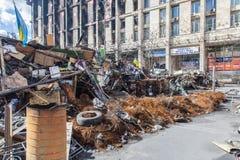 Euromaidan, Kyiv después de la protesta Imágenes de archivo libres de regalías