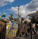 Euromaidan, Kyiv dopo la protesta Fotografia Stock